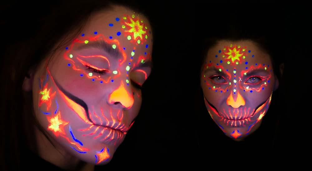 Maquillaje de catrina Neon
