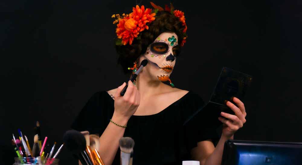 tutorial de maquillaje de catrina paso a paso